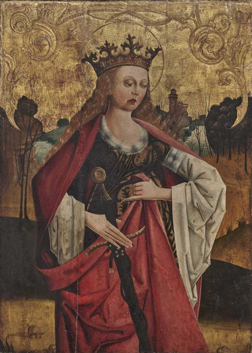 Westphalia (?) - St. Catherine of Alexandria, late 15th century - photo 1