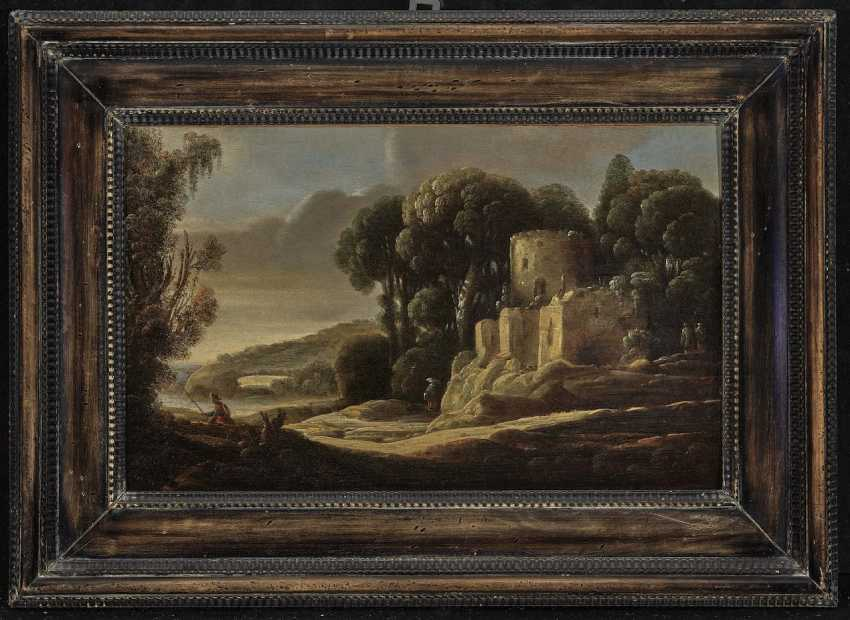 Gottfried (Goffredo) Wals - Landscape with ruins and figure staffage - photo 2