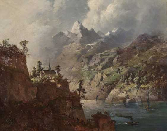 August Seidel, attributed to - Thunderstorm mood over a mountain lake - photo 1