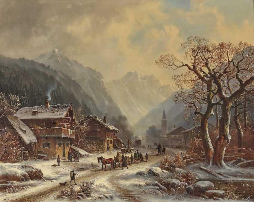 Anton Doll - Winter mountain village - photo 1