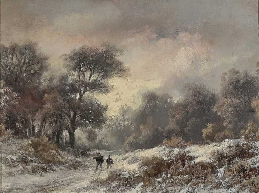 Remigius Adrianus (Remy) van Haanen - Winterlandschaft mit Figurenstaffage - photo 1