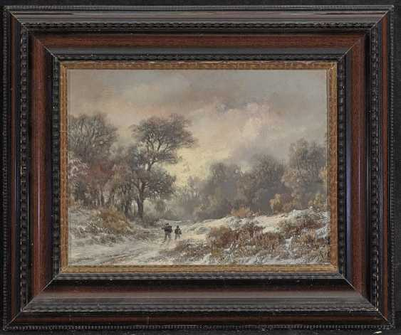 Remigius Adrianus (Remy) van Haanen - Winterlandschaft mit Figurenstaffage - photo 2