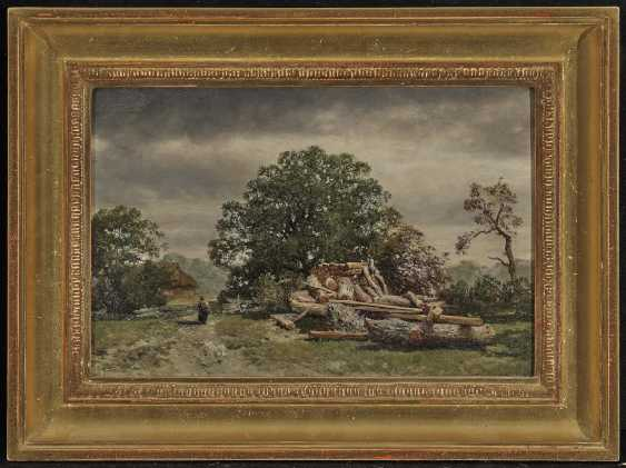Max (August Maximilian) Zimmermann - Tree landscape with brushwood collector - photo 2