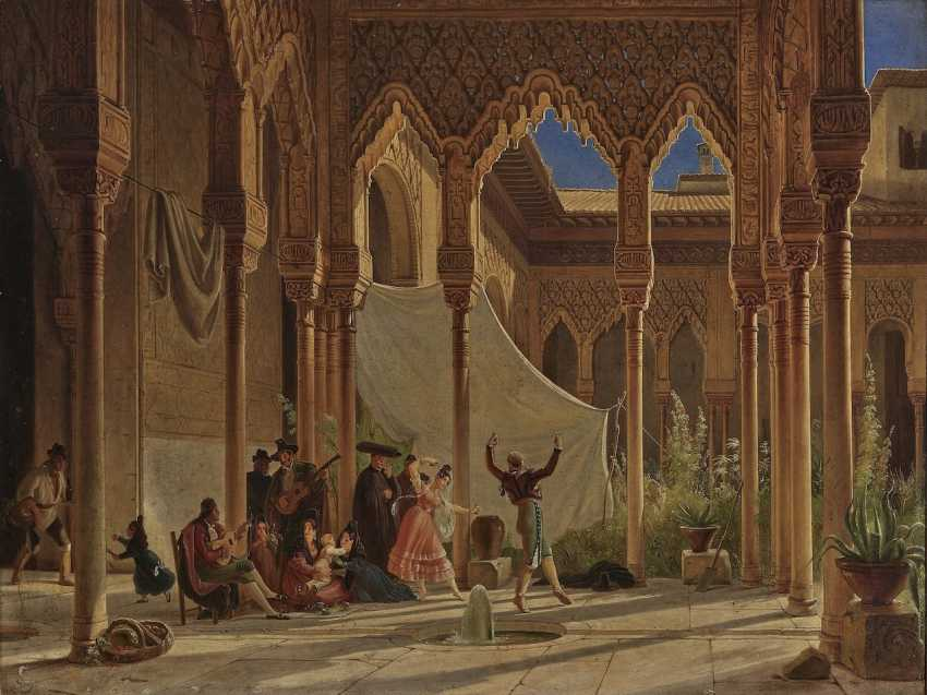 Wilhelm Gail - Dance in the Lion Courtyard of the Alhambra in Granada - photo 1