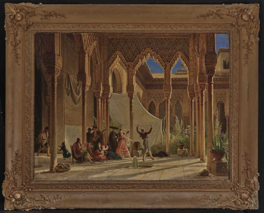 Wilhelm Gail - Dance in the Lion Courtyard of the Alhambra in Granada - photo 2