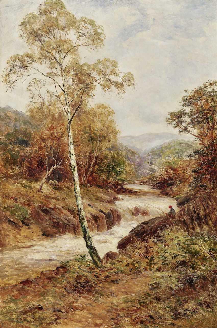 Alfred de Bréanski - The River at Dolgelly, N. Wales - photo 1