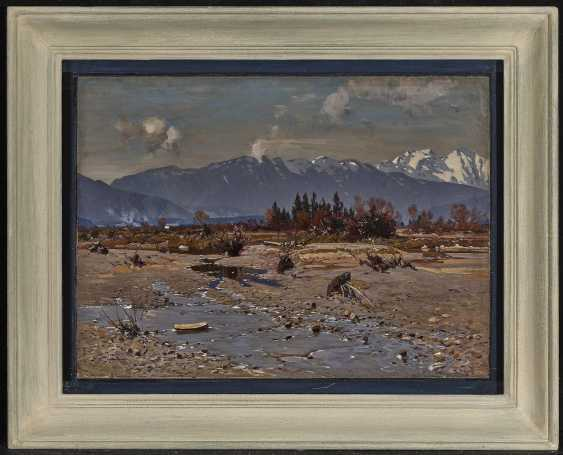 Otto Strützel - In the Isar Valley with a view of the Karwendel Mountains - photo 2