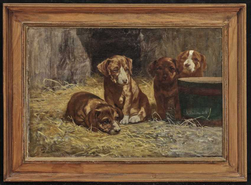 John Henry Dolph - Four Dog Puppies - photo 2