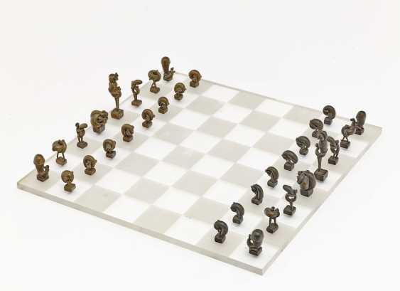 Alfred Aschauer - Chess set. 1966  - photo 1