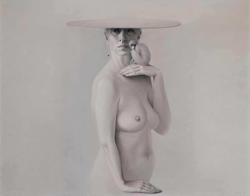 Ulrike Turin - Self-portrait with a monkey. 1994  - photo 1