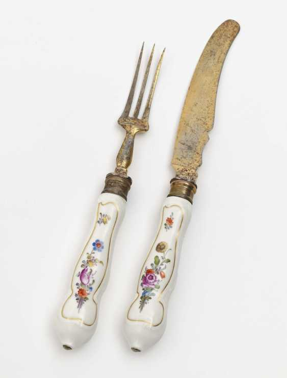 Meissen knife and fork, 2nd half of the 18th century - photo 1