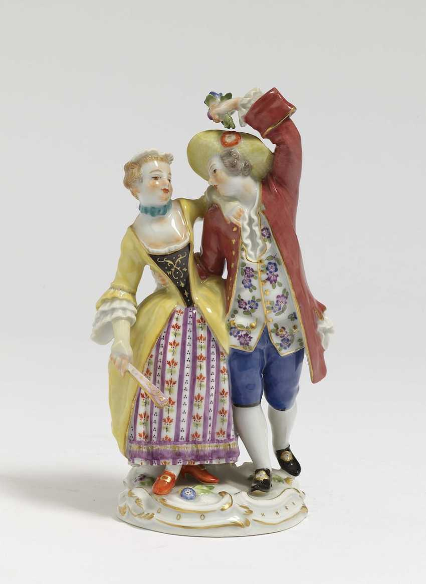 Dancing rococo couple Meissen, after a model by JJ KÄNDER - photo 1