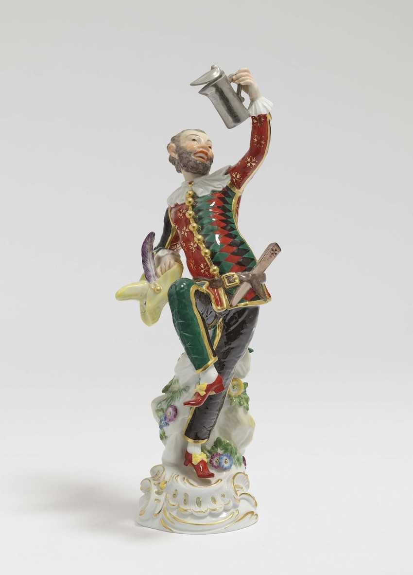 Harlequin with lidded jug Meissen, 2006, after a model by JJ Kellers - photo 1
