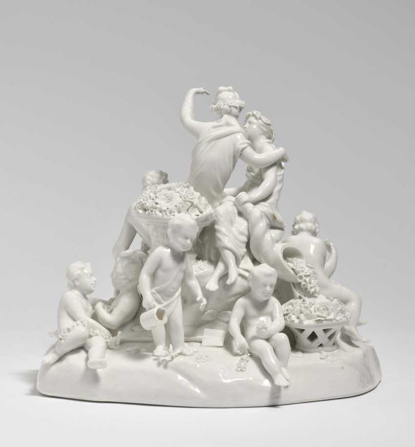 Group with Flora and Pomona Nymphenburg, based on a Frankenthal model by Johann Adam - photo 2