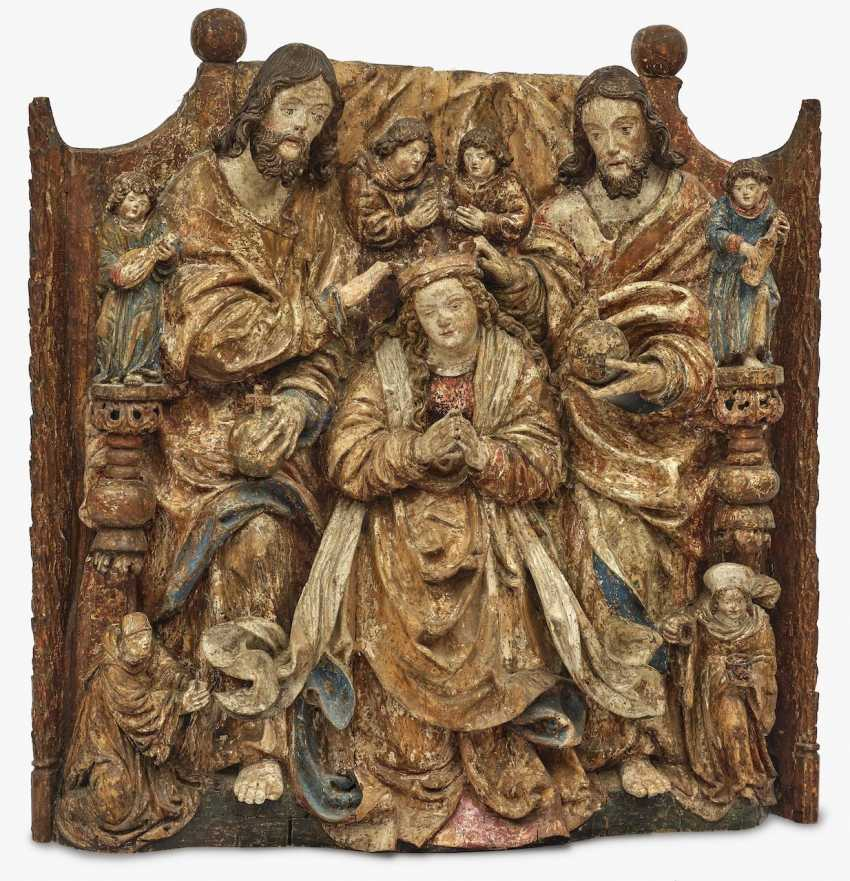 Coronation of Mary Master of the Pulkau altar sculptures (presumably active in Vienna 1st third of the 16th century), around 1530 - photo 1