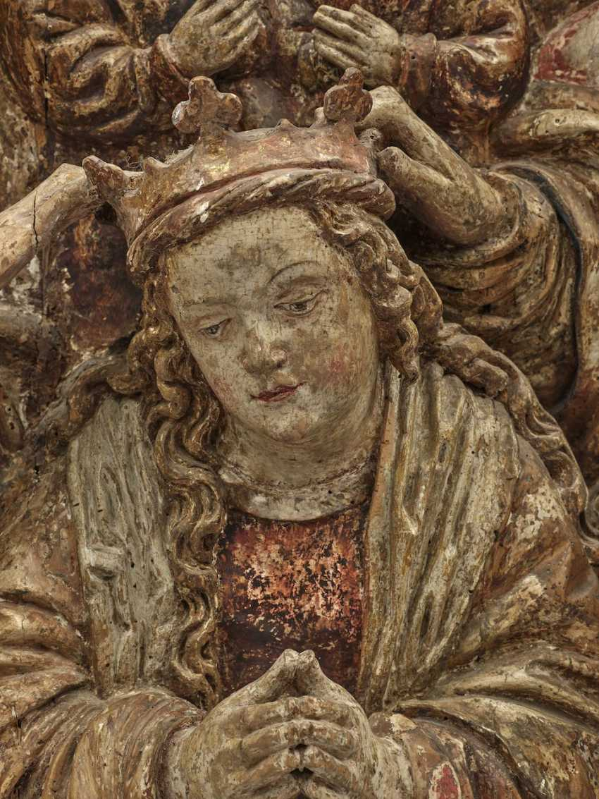 Coronation of Mary Master of the Pulkau altar sculptures (presumably active in Vienna 1st third of the 16th century), around 1530 - photo 2
