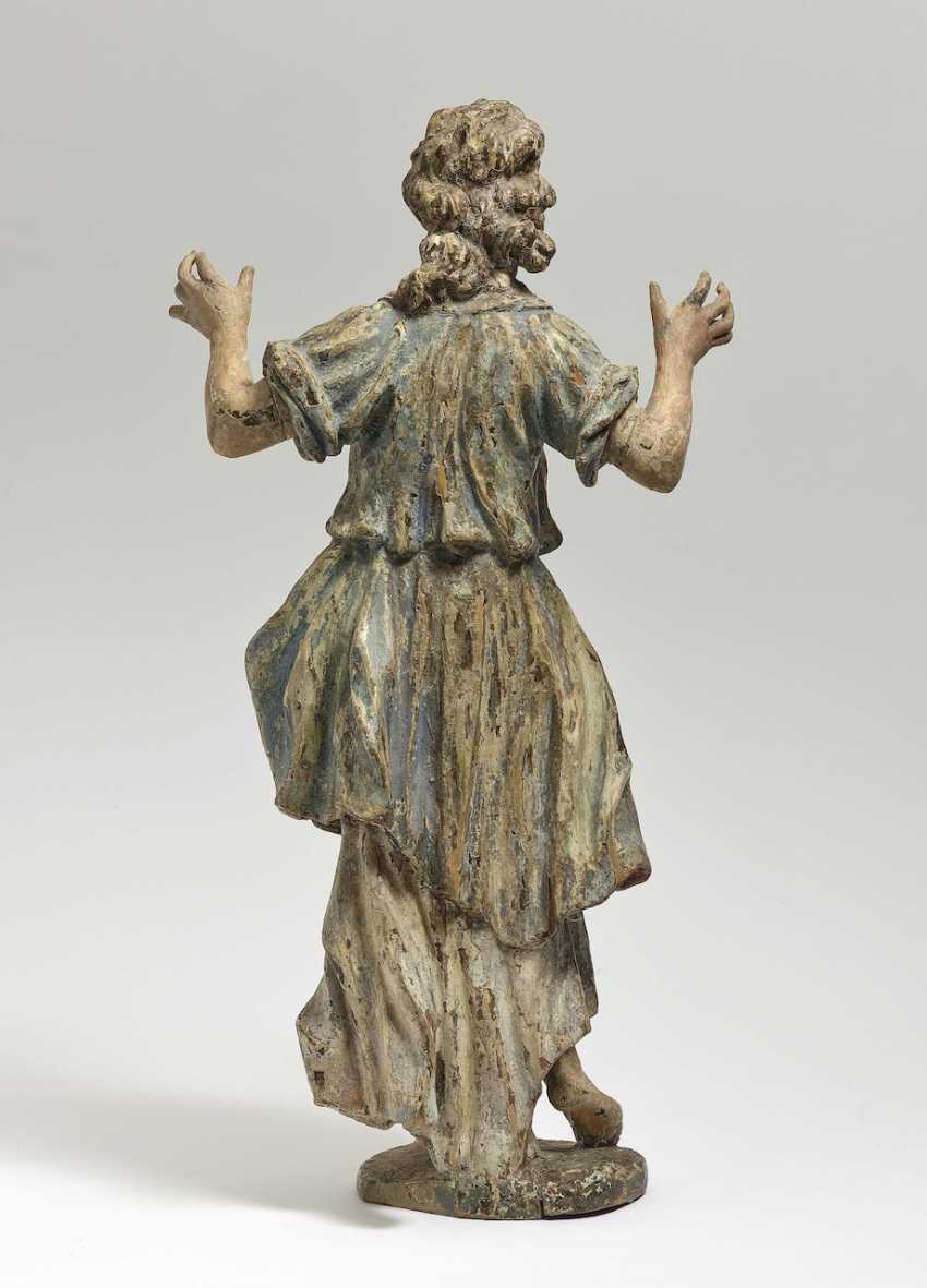 Adoration angel South German, early 18th century - photo 3