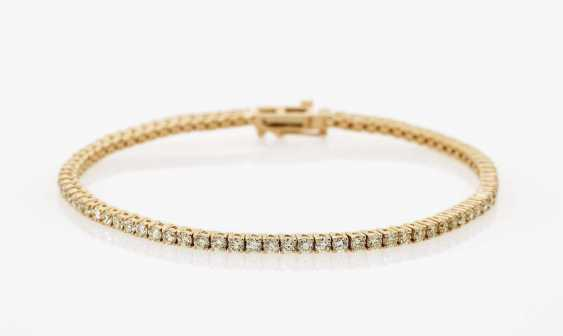 Classic tennis bracelet with diamonds in natural Fancy Light Yellow Germany - photo 1