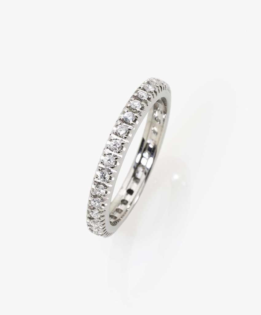 Memory ring with diamonds England, 2000s - photo 1