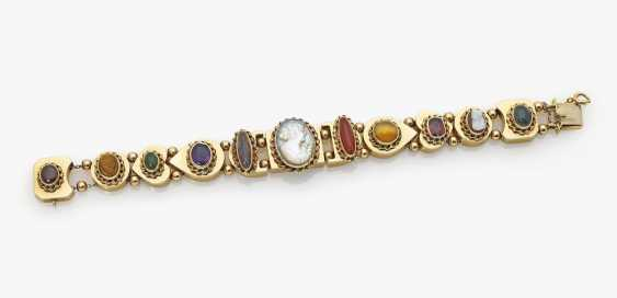 Bracelet with different colored stones and gems, probably Germany, 1920s - photo 1