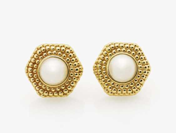 A pair of ear clips with Mabè cultured pearls Italy, 1980s - 1990s - photo 1