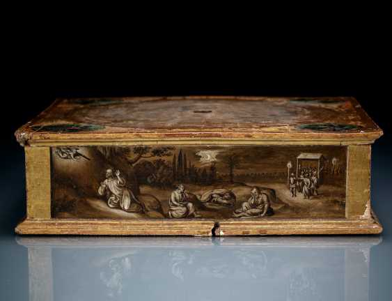 Rare relic stand with polychrome and grisaille painting - photo 4