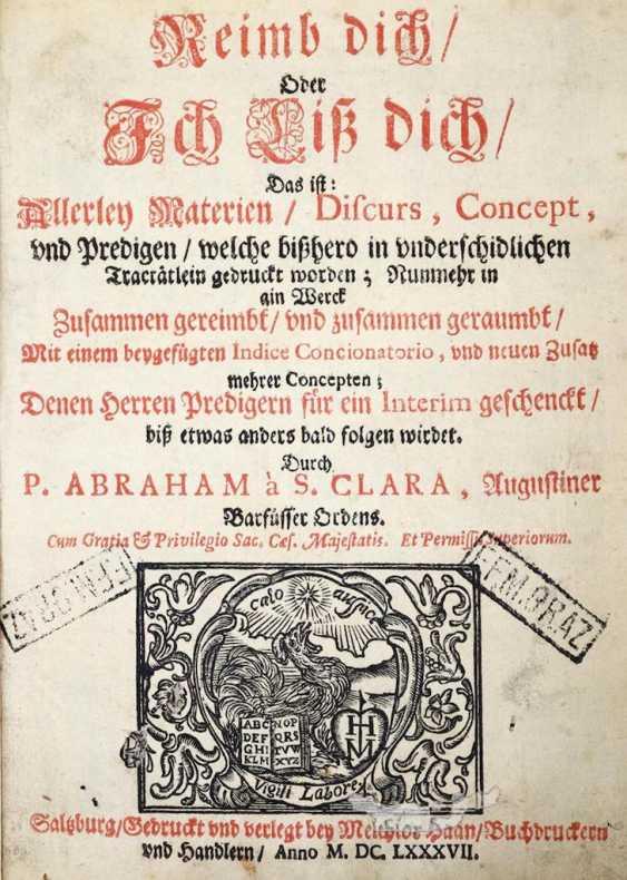 Abraham a Sancta Clara (dt U.Megerle). - photo 1