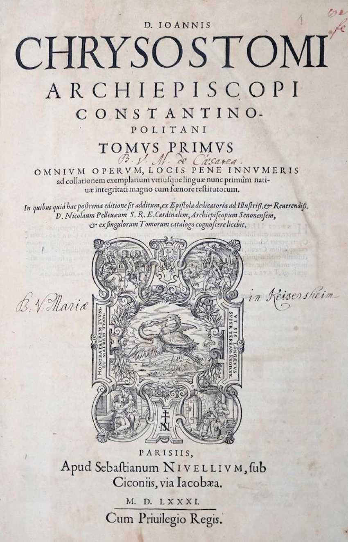 Chrysostomus, J. - Foto 1