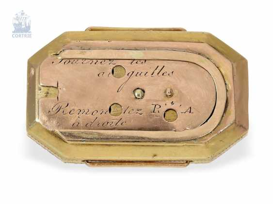 """montre de forme: muséale Émail Broche """"Tortue"""" à Horloge interne, Balancier visible et riche de Diamants, attribuée à Piguet et Capt, Geneva, circa 1810 - photo 4"""