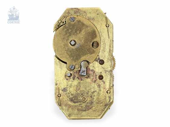 """montre de forme: muséale Émail Broche """"Tortue"""" à Horloge interne, Balancier visible et riche de Diamants, attribuée à Piguet et Capt, Geneva, circa 1810 - photo 8"""
