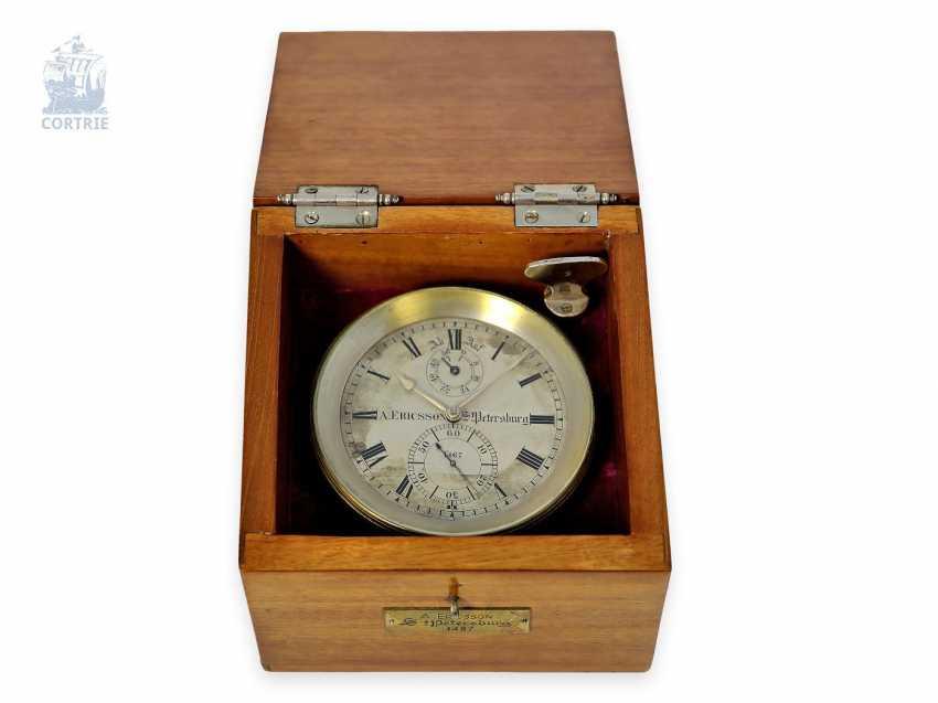 Настольные часы: крайне редкий Стол хронометров, Виктор Kullberg № 8309, хронометров созданный для создателей августа Ericsson Санкт-Петербурга № 1467, 1910. - фото 2