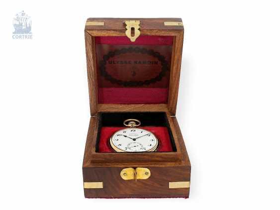 Pocket watch: very fine Ulysse Nardin Pocket chronometer with original numbered box and original certificate, CHRONOMETRE No. 18090, CA. 1920 - photo 2