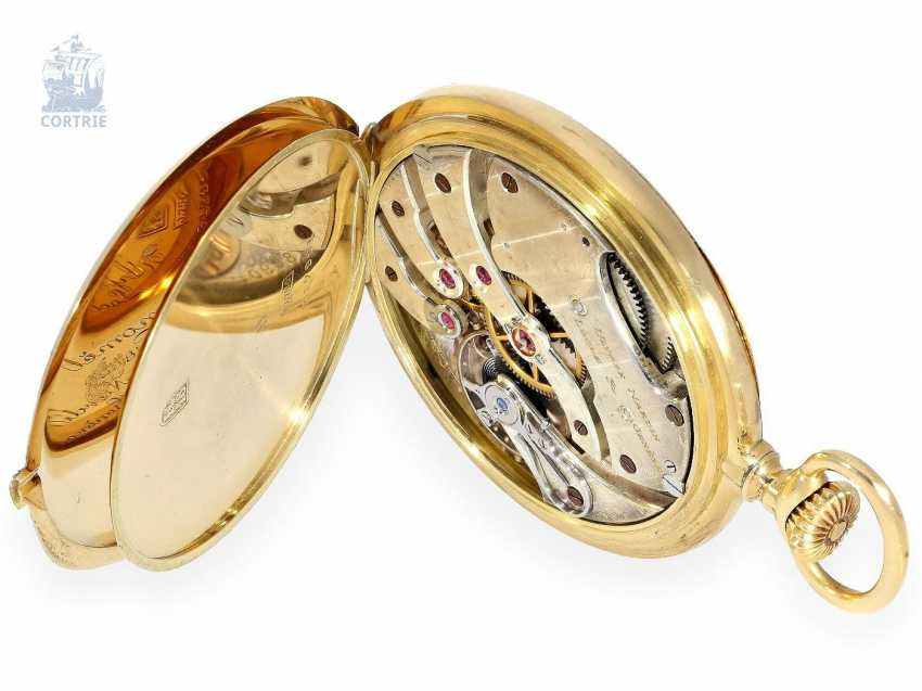 Pocket watch: very fine Ulysse Nardin Pocket chronometer with original numbered box and original certificate, CHRONOMETRE No. 18090, CA. 1920 - photo 4