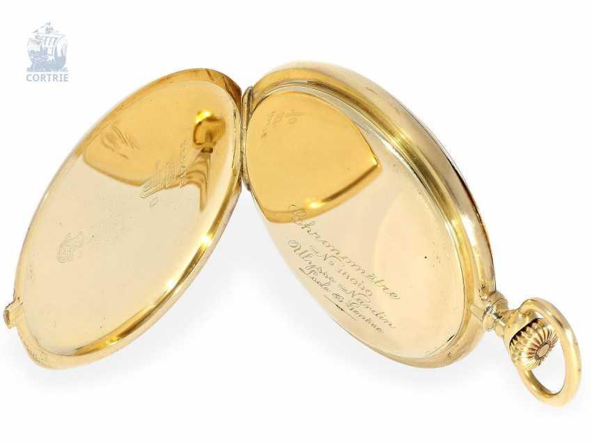 Pocket watch: very fine Ulysse Nardin Pocket chronometer with original numbered box and original certificate, CHRONOMETRE No. 18090, CA. 1920 - photo 6
