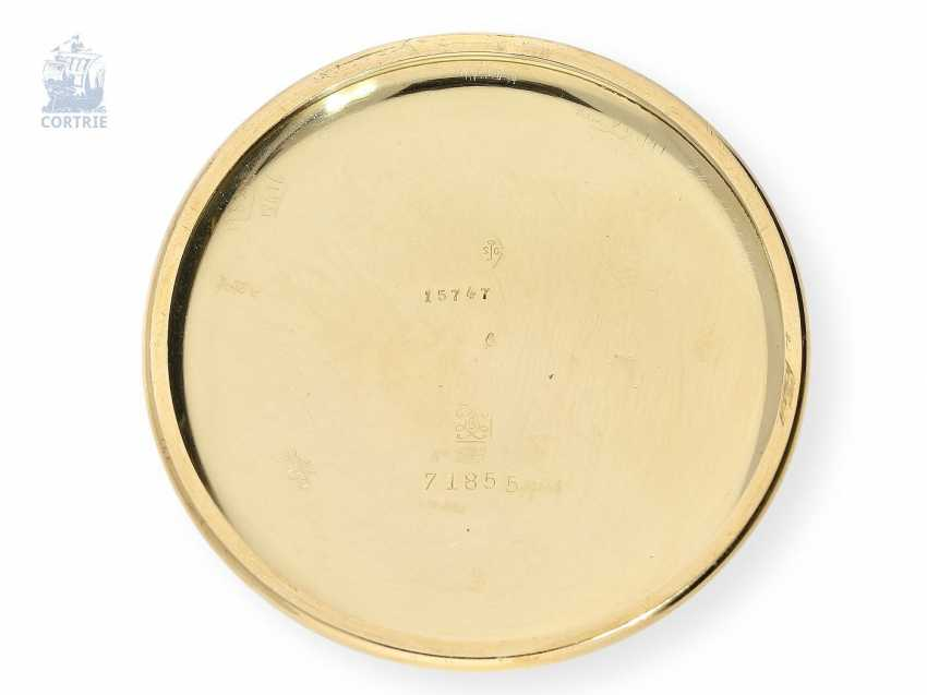 Pocket watch: fine and rare Chronometer Le Roy & Cie Chronometer de Observatoire National de Besancon with Chronograph and 30-minute Register, circa 1920, original box - photo 3