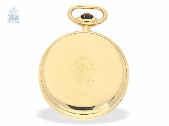 Pocket watch: fine and rare Chronometer Le Roy & Cie Chronometer de Observatoire National de Besancon with Chronograph and 30-minute Register, circa 1920, original box - photo 4