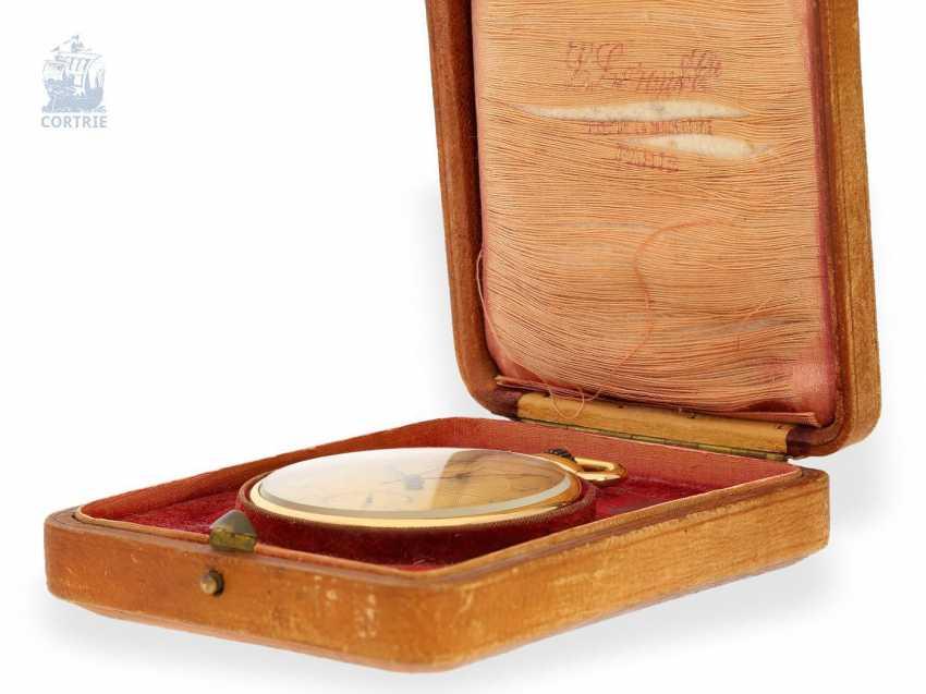 Pocket watch: fine and rare Chronometer Le Roy & Cie Chronometer de Observatoire National de Besancon with Chronograph and 30-minute Register, circa 1920, original box - photo 5
