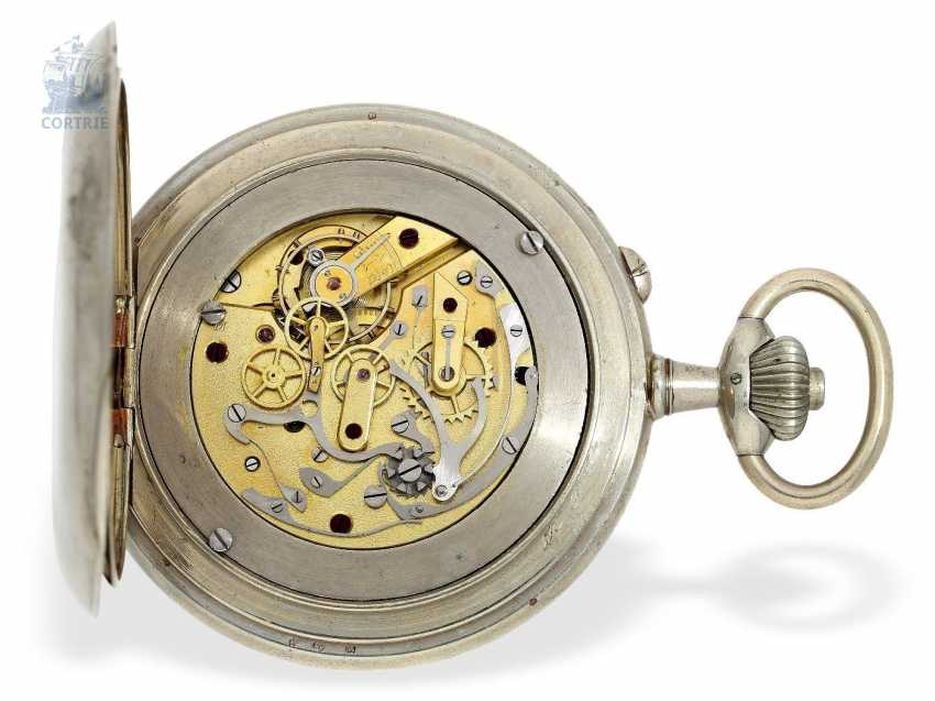 Pocket watch: extremely rare French Marine navigational clock, with a compass, Chronograph and Register, Montre Boussole du Capitaine Vincent No. 5151, around 1900 - photo 3