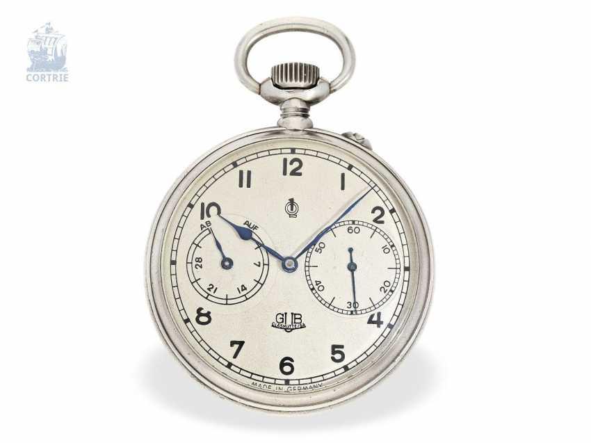Pocket watch: a rare glashuette deck Watch, GUB No. 207753, calibre 48 Navy deck Watch, 50s - photo 1