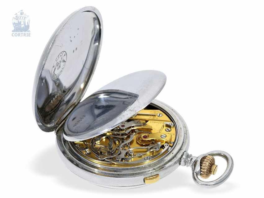 "Pocket watch: very rare Longines pointer-Chronraph ""Multicolour Dial"" and 30-minutes counter, Longines, CA. 1915, original box - photo 2"