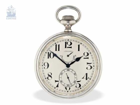 Pocket watch/clock: rare Longines Observation chronometers for the U.S. Navy, equipped with the high-grade precision-calibre 21.29, CA. 1920 - photo 4
