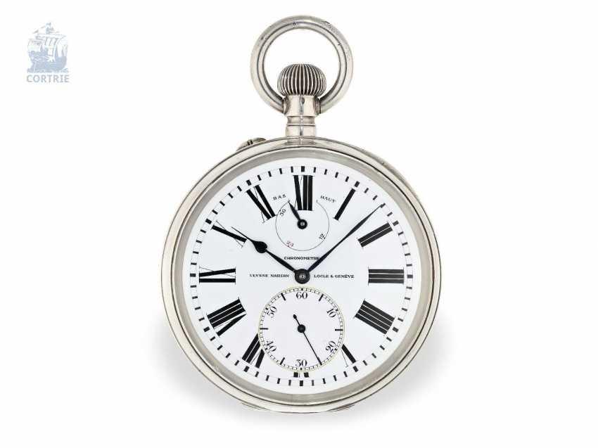 "Pocket watch: extremely rare Observation chronometers, Ulysse Nardin, Locle & Genève, ""Chronometre"", No. 19772, circa 1925 - photo 5"