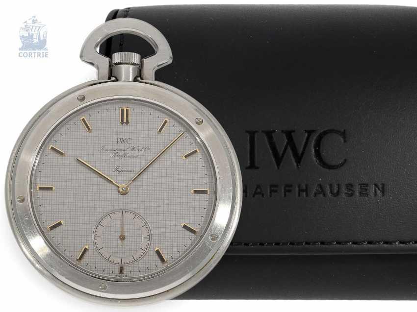 """Pocket watch: extremely rare IWC Schaffhausen """"Ingenieur SL"""", Ref. 5215, Cal. 9520, CA. 1985 - photo 1"""