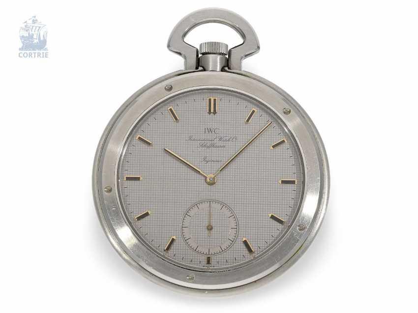 """Pocket watch: extremely rare IWC Schaffhausen """"Ingenieur SL"""", Ref. 5215, Cal. 9520, CA. 1985 - photo 5"""