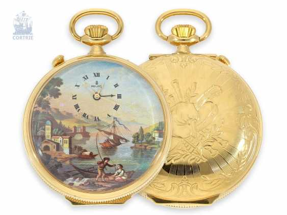 Pocket watch with Musical movement, alarm and concealed erotic automaton Romance, Fa. Reuge Swiss 20. Century - photo 3