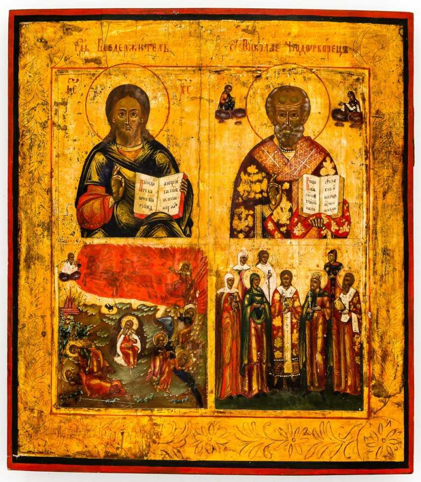 Christ, Hl. Nicholas, Hl. Elias and Holy - photo 1