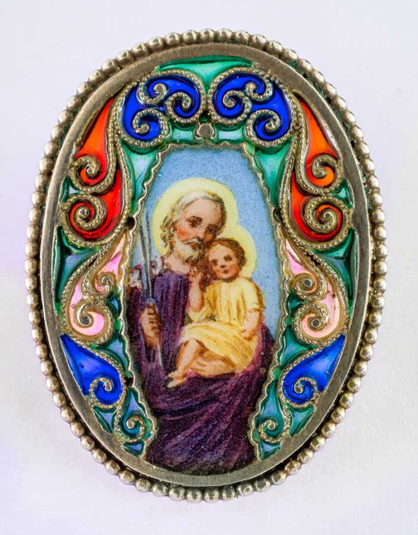 Brooch with hl. Joseph and baby Jesus - photo 1