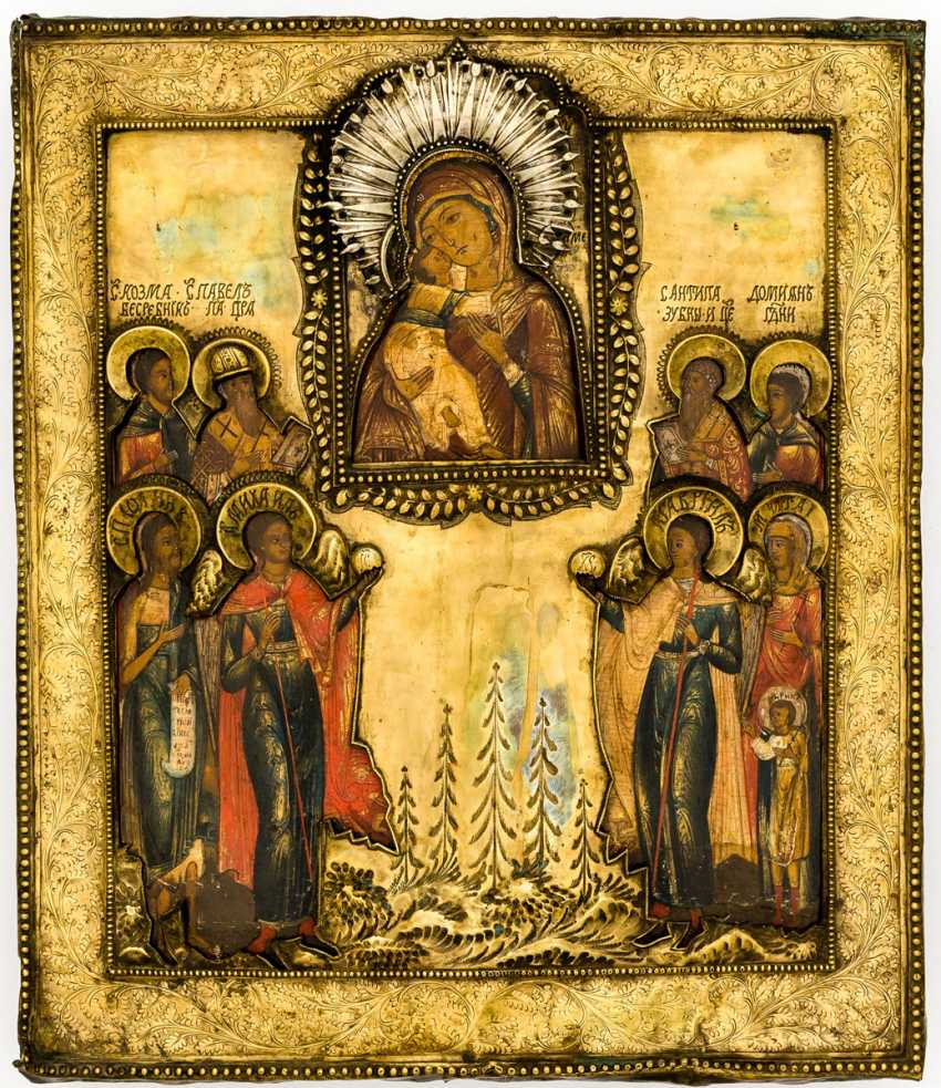 Mother of God of Vladimir with saints - photo 1
