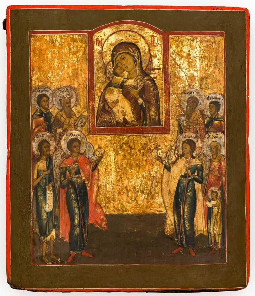 Mother of God of Vladimir with saints - photo 2