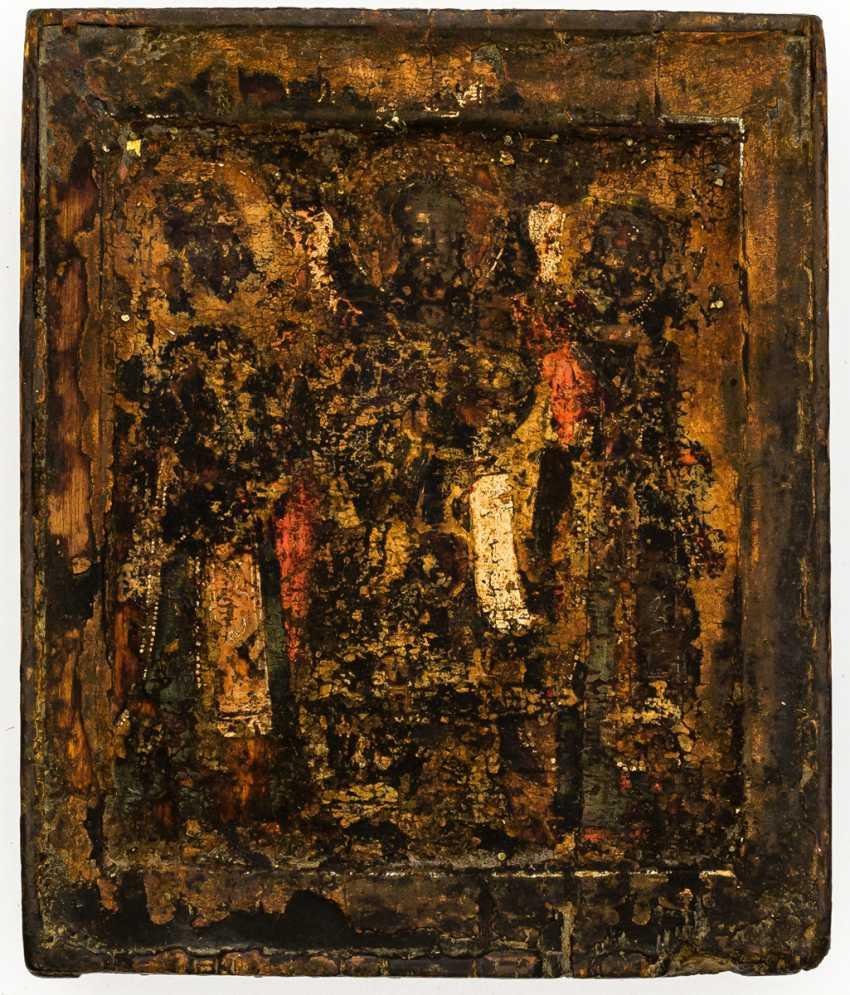 Christ with two saints - photo 1